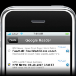 iPhone + Google Reader = RSS