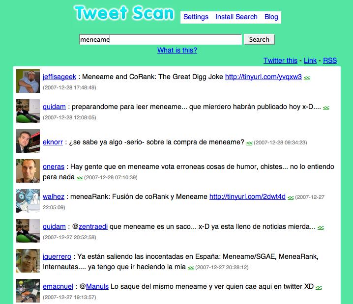 Tweet Scan – El cotilla de Twitter