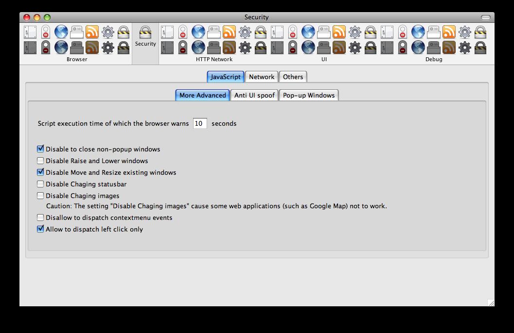 Firefox Configuration Manía