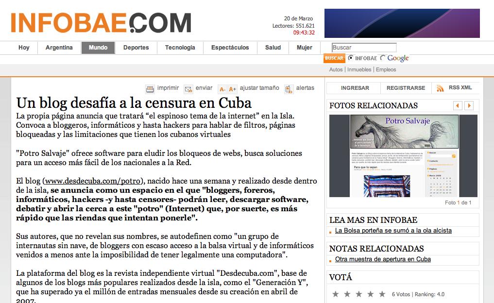 El Día que fuí Dr. Blog – Azote de la Censura en Cuba