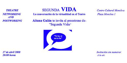Second Life – La conversación de la virtualidad a través del Teatro