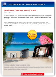 1&1 te invita a hacer Spam para ganar un iPod Touch