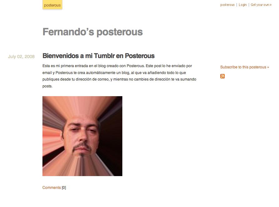 Posterous – Tumblr por Email