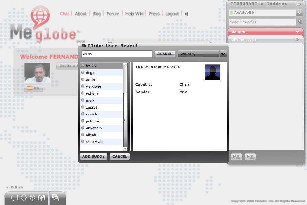 Traducción en tiempo real en el Chat