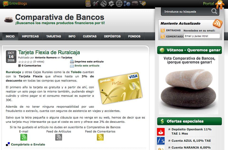 Rubia Guru y Comparativa de Bancos – Entrebloggers