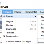 Google Hojas de Cálculo ahora con Menús