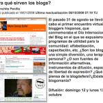 ¿Para qué sirven los blogs?