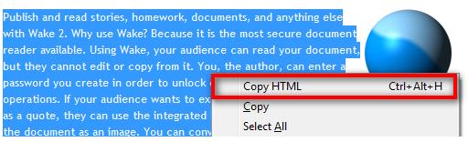 Copia código con Firefox