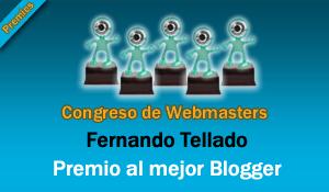 Premio Mejor Blogger – Congreso de Webmasters 2.008