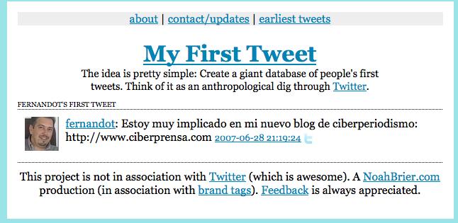 Tu primer mensaje en Twitter