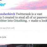 Twitterank – ¿Roba las contraseñas de Twitter?