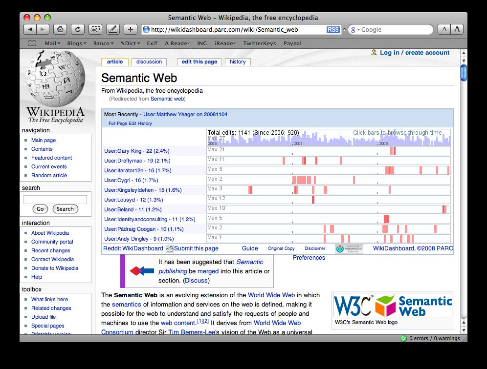 WikiDashboard: Vigila los cambios de la Wikipedia