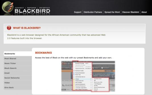 Blackbird – El navegador para Negros