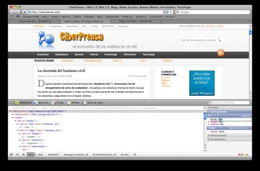 El Inspector Web de Safari 4