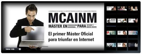 Graduación del Máster en Comunicación Audiovisual para Internet y los Nuevos Medios