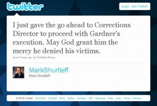 El no va más, anuncia una ejecución en Twitter