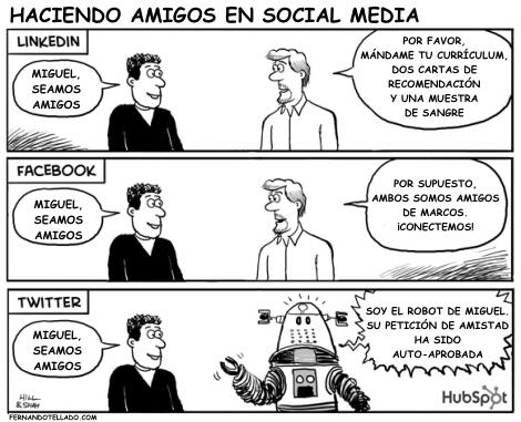 Haciendo amigos en las redes sociales