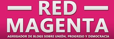 logo red magenta