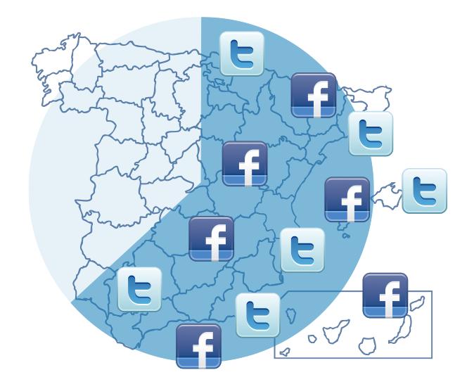 twitter y facebook en españa