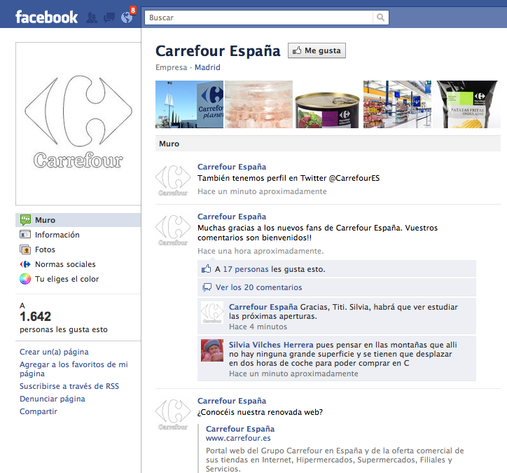 muro carrefour facebook