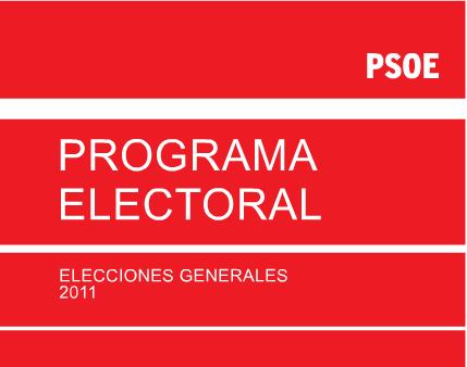 Programas electorales 2011 e Internet: PSOE