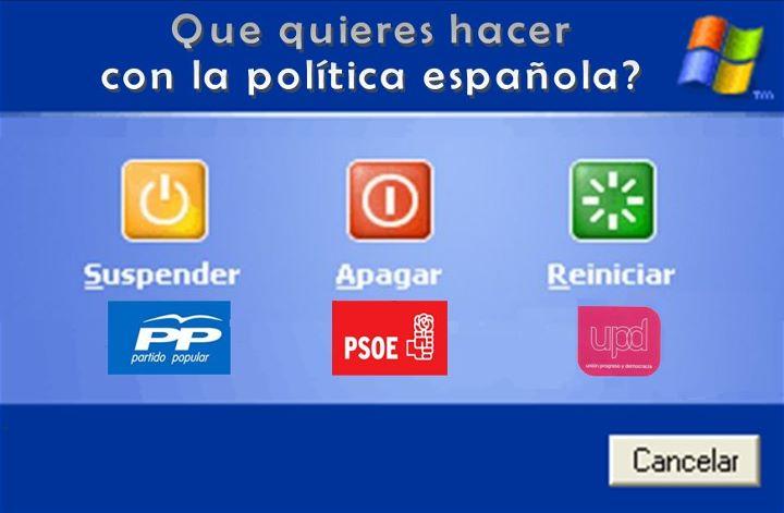 reiniciar la política española