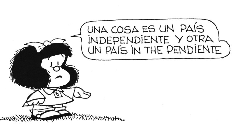 in the pendiente mafalda