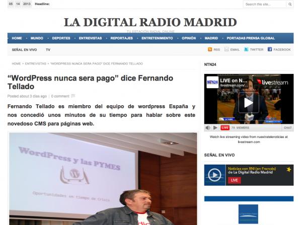 entrevista radio digital madrid fernando tellado