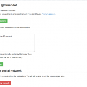 Configurar red social