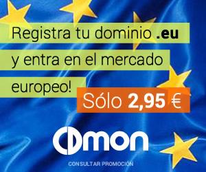 Dominios .eu por menos de 3 euros