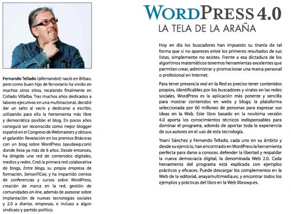 contraportada libro wordpress