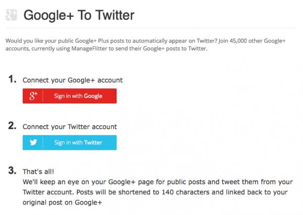 google plus a twitter