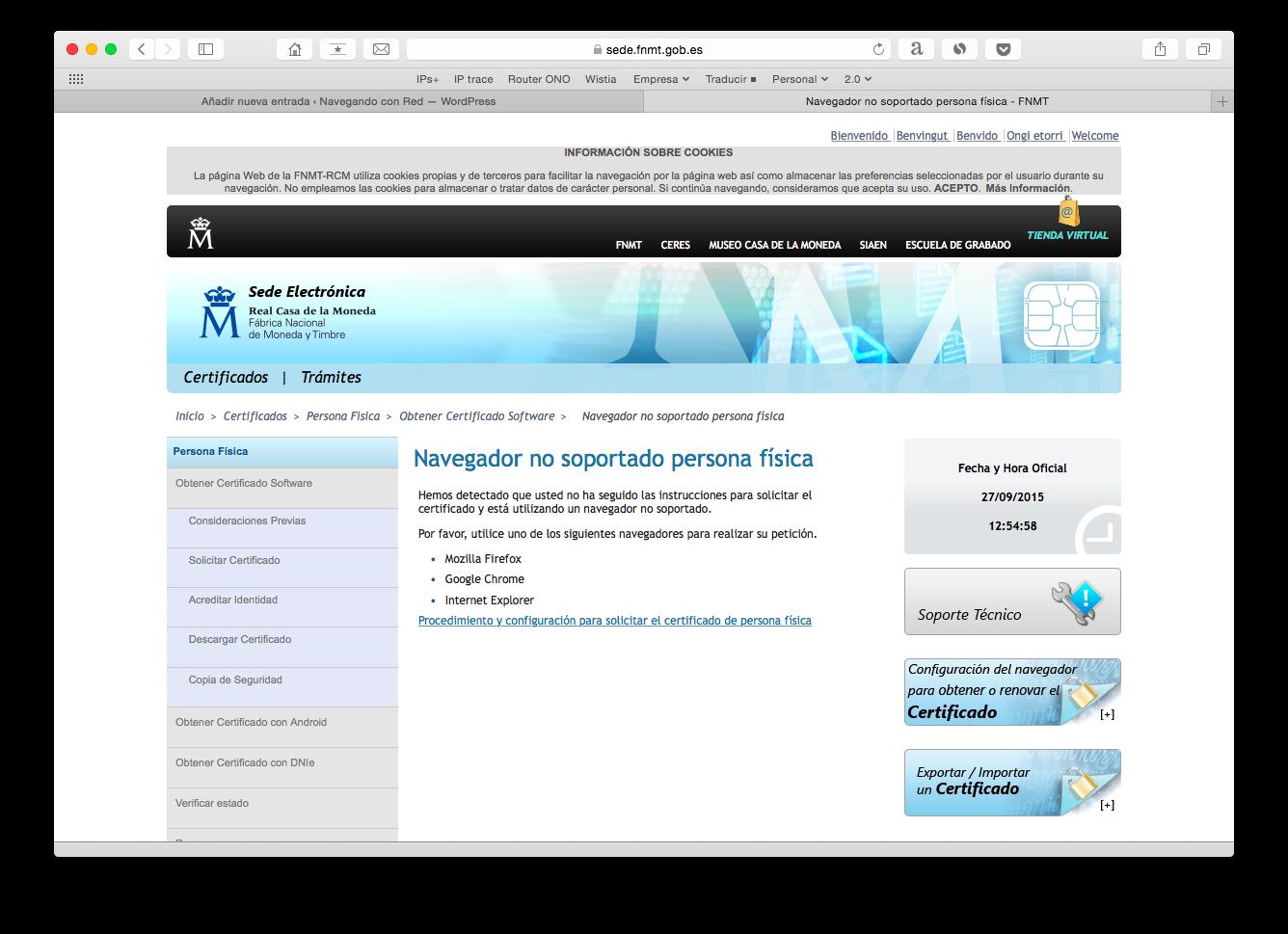 Certificado digital Mac OSX - Guía detallada paso a paso