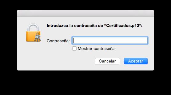 13 contraseña certificado importar