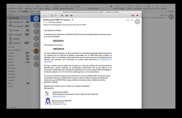 7 email codigo solicitud