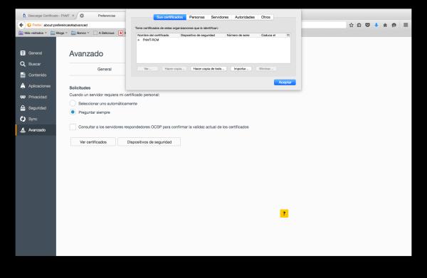 importar certificado firefox mac 1