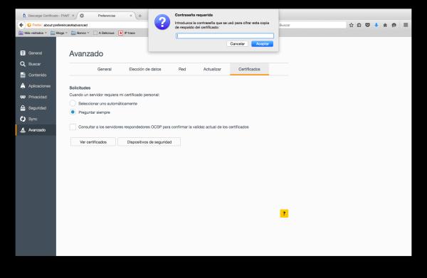 importar certificado firefox mac 3