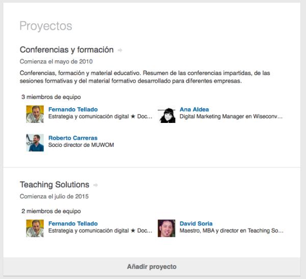 proyectos linkedin